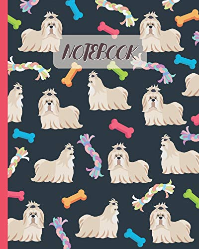 Notebook: Cute Shih Tzus & Toys - Lined Notebook, Diary, Track, Log & Journal - Gift Idea for Boys Girls Teens Men Women (8