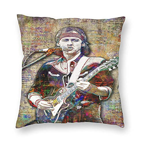 KOTHER Dire Straits Pillow Cases Covers Polyester Square Home Decorative Cushion for Couch Sofa Home Decor Kissenbezüge 18x18Inch(45cmx45cm)