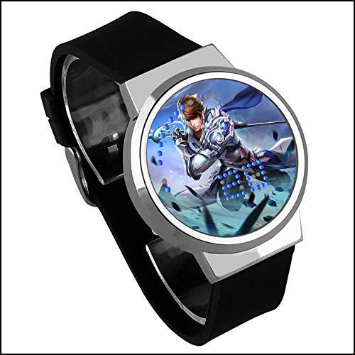 Creativo Regalo de cumpleaños con Pantalla táctil LED Reloj animación rodeando Reloj Luminoso Impermeable