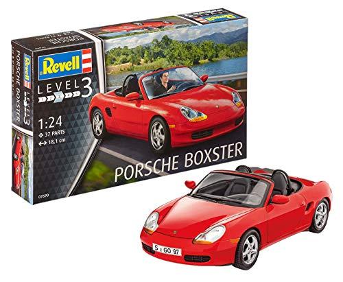 Revell 07690 Modellbausatz Porsche Boxster im Maßstab 1:24, Level 3, Rot