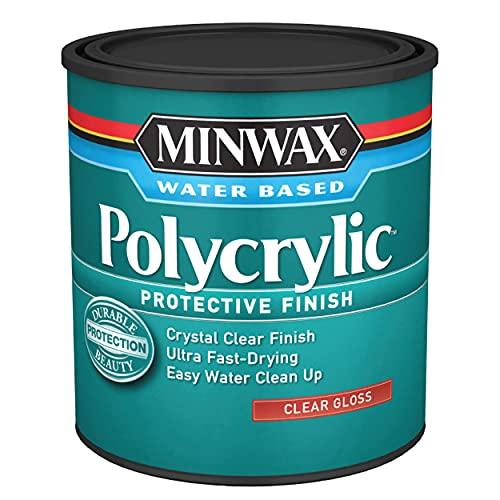 Polycrylic Protective Finish Water Based, Quart,...