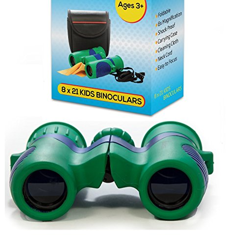 Product Image of the Kidwinz Original Compact 8x21 Kids Binoculars Set - High Resolution Real Optics...