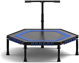 Trampolines Indoor Fitness Trampoline 45 Inch Met Verstelbare Leuning, Trampette Exercise Trampoline Home Gym Rebounder Wo...