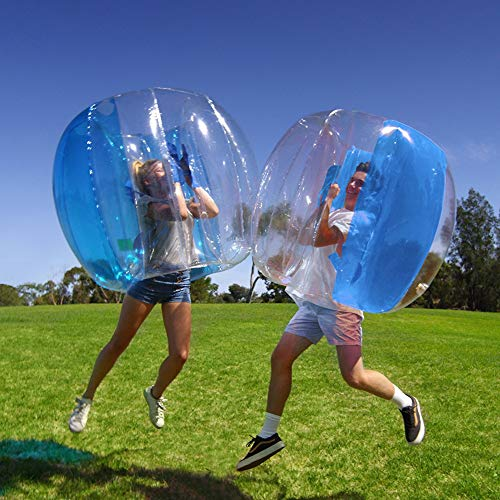 SanXingRui Inflatable Bubble Ball Wearable Infatable Bumper Ball Inflatable Bumper Ball Body Zorbing Kids Children Outdoor Play Ball Games Outdoor Sports Playing Toy(110×110×100CM, Blue)