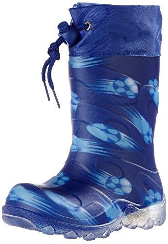 Beck Chłopięce buty zimowe z motywem piłki, niebieski niebieski 34, 35 EU