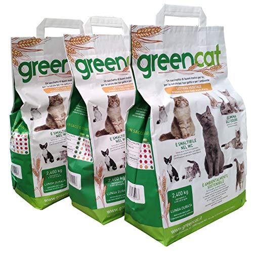 Greencat lettiera per gatti a base d\'orzo (3 x 6 litri) tot. 7,20 kg