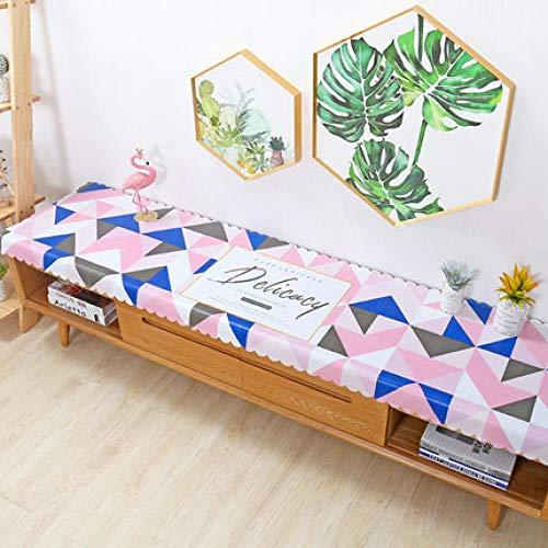 Traann plastic tafelkleden schoon te vegen, Square Wipe Clean tafelkleed Vinyl PVC TV kast deksel doek woonkamer driehoek 50*160