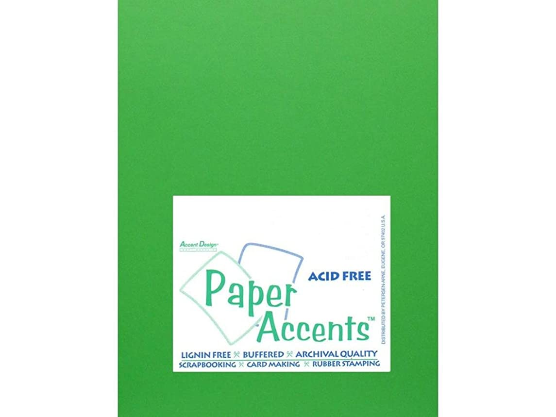 Accent Design Paper Accents Cdstk Smooth 8.5x11 65# Kelly Green, 25 Piece