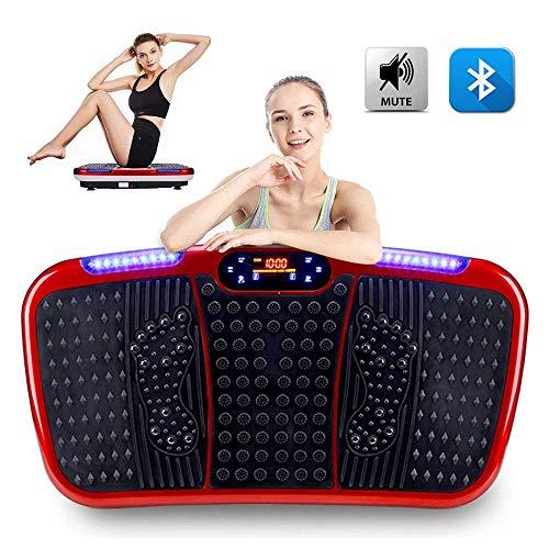CARACHOME Plataforma vibratoria silenciosa, Maquina de Adelgazar con Plataforma de vibración de Cuerpo Completo, Equipo de Entrenamiento en casa, pérdida de Peso y tonificación, LCD | Bluetooth