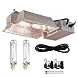 TopoGrow 630W CMH CDM Grow Light Kit W/3100K Bulb& 120V-240V Ballast 120V Plug Full Light Spectrum CMH Bulb Replace LED Digital Ballast for Plant Growing (630W Enclosed Kit /3100K)