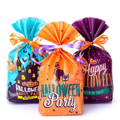 GWHOLE 72 Stück Halloween Tüte Süßigkeiten Candy Geschenktüten Mitgebsel Partyzubehör