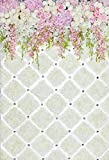 Fondos de Primavera Flor Verde Hierba árbol Cortina Boda cumpleaños Fiesta Fondos fotográficos escénicos para Estudio fotográfico A4 10x7ft / 3x2,2 m