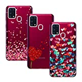 Young & Min Funda para Samsung Galaxy M31, (3 Pack) Transparente TPU Silicona Carcasa Delgado...