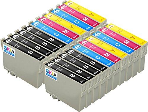 Skia Ink Cartridges kompatible Tintenpatrone als Ersatz für Epson 16XL (Schwarz/ Cyan/ Magenta/ Gelb 20-Pack)