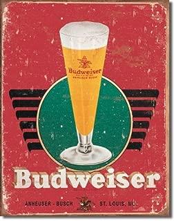 The Finest Website Inc. New Bud Budweiser Retro Glass & Logo 16