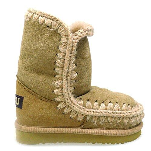 Mou, Mädchen Stiefel & Stiefeletten, beige - Camel - Größe: 33