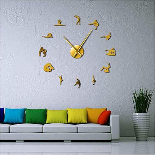 Horloge Wandbild Brilliolage Grand sans Cadre Horloge Wandbild Brilliolage Miro Muet Autocollant Numérique Moderne Horloge Wandbild Géante Salon Chambre Cuisine Pas de Tac