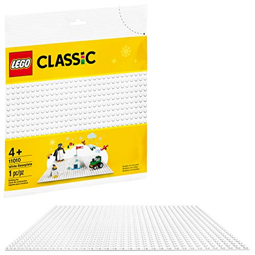 LEGO Classic weiße Grundplatte 11010 Creative Toy for Kids, Great Open-Ended Imaginative Play Builders, New 2020 (1 Stück)