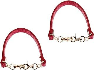 Prettyia 2 Pieces DIY Shoulder Bag Repair Replacements For Decor Handle 30cm Red