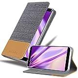 Cadorabo Coque pour Nokia 8 Sirocco en Gris Clair Marron - Housse Protection avec Fermoire...