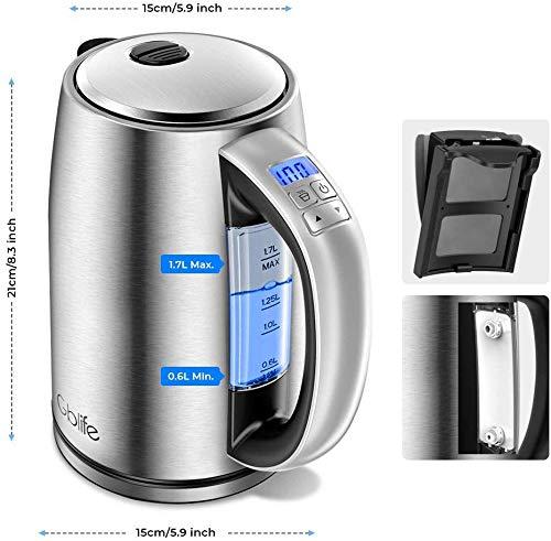 Bouilloire Thermostat Réglable, GBlife...