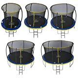 ZERO GRAVITY 6ft / 8ft / 10ft / 12ft / 14ft Ultima 4 High Spec Trampoline with Safety Enclosure Netting and Ladder (6ft)