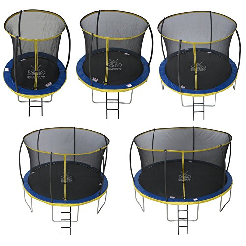 ZERO GRAVITY 6ft / 8ft / 10ft / 12ft / 14ft Ultima 4 High Spec Trampoline with Safety Enclosure Netting and Ladder (14ft)