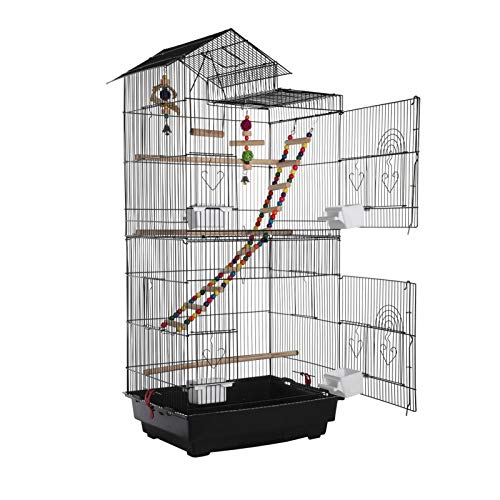 Queiting 99cm Top parrot cage Large Roof Bird Cage, Budgies Lovebirds...