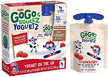 4-Pack Gogo Squeez Made from Real Yogurt and Fruit