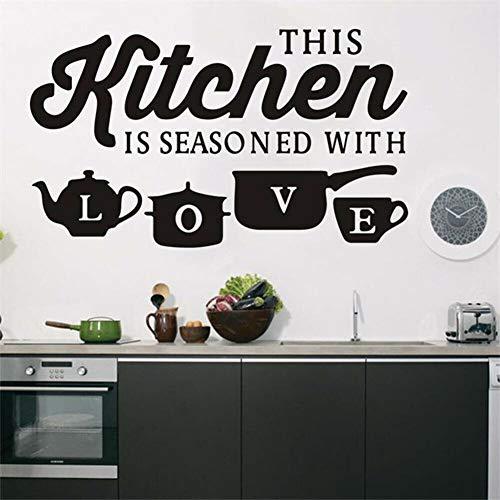 mlpnko Familienküche Wandaufkleber Wandtattoo Kunst Vinyl Aufkleber für die Küchendekoration , 52x30cm