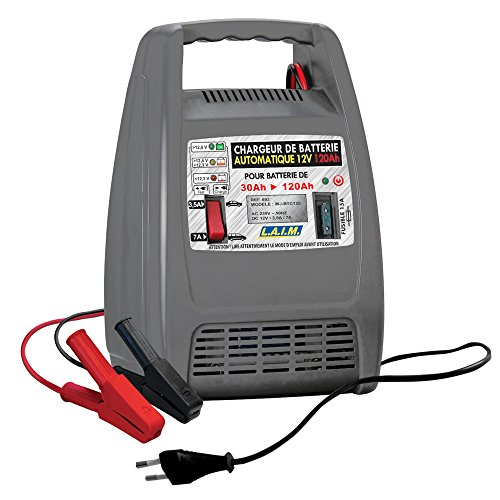 L.A.I.M. 693 Chargeur de Batterie Automatique 12V 120 Ah-10 Amp