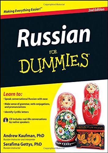 Compare Textbook Prices for Russian For Dummies 2 Edition ISBN 9781118127698 by Andrew D. Kaufman,Serafima Gettys Ph.D.
