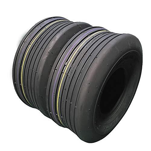 Set von 2 LRB 11x4.00-5 Rasenreifen 11-4.00-5 Tubeless Turf Bias Lastbereich B Reifen 11/4.00-5 P508 für Garten Rasenmäher Traktor Golf Cart Reifen 11x4.00-5 4PR P508A