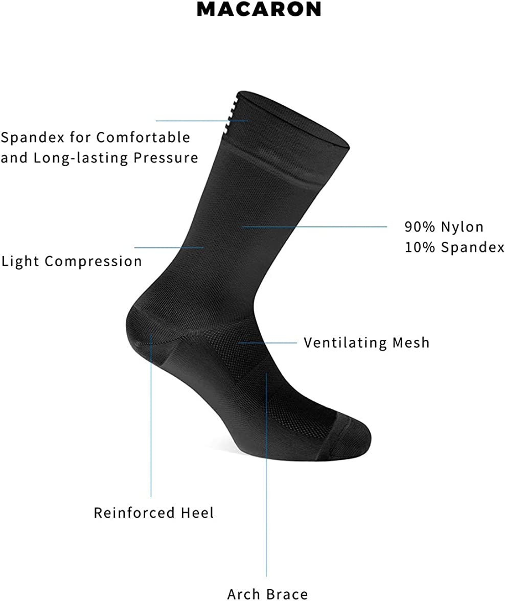 8 Pairs Cotton Sport Socks Knee High For Men Women Cushioned Sole Multi-colors Men and Women Outdoor Sports Racing Cycling Socks