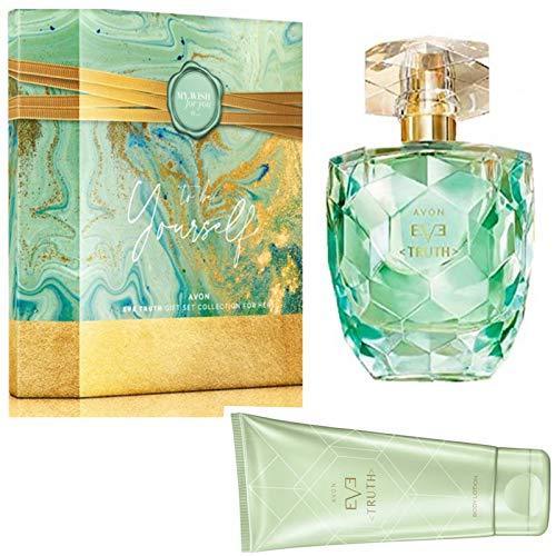 Avon Eve Truth Set 2 Teile in einer Box verpackt Eau de Parfum Spray 50ml + Bodylotion 150ml für Sie