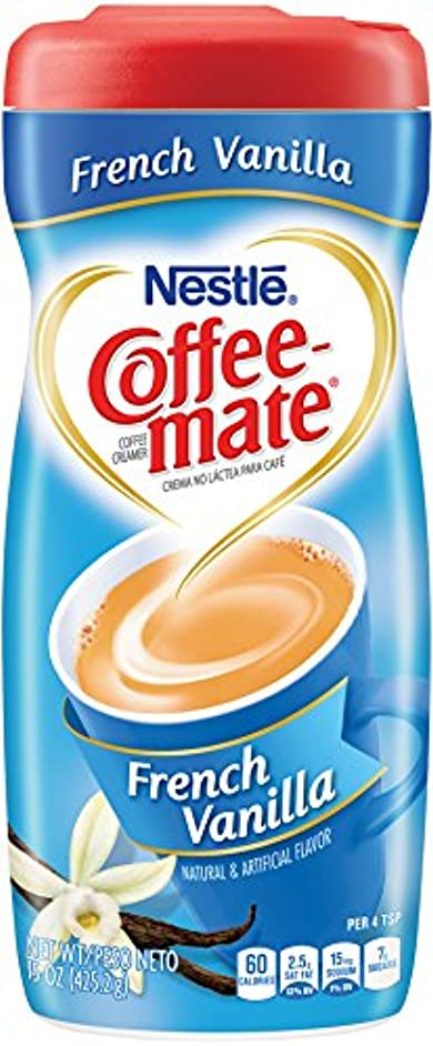 Coffee-Mate Coffee Creamer French Vanilla, 15 Ounce (Pack of 6)