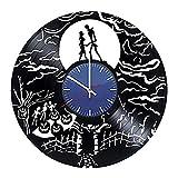 HCPGZ Reloj de Pared con Registro de Vinilo de Adorno de Halloween Obtenga una decoración de Pared...