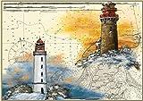 Tischset Kap Arkona, Rügen, Dornbusch, Hiddensee, Format A3, laminiert, strapazierfähig, wasserfest, abwischbar