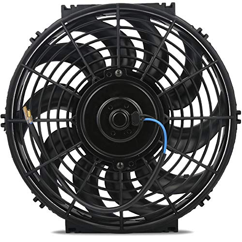 """American Volt 12 Volt Automotive Engine Electric Radiator Cooling Fan Reversible High Performance Thermo Car Truck Cooler Custom Upgraded Motor Best CFM (15"""" Inch, Single Fan)"""
