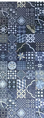 Tappeto cucina a metraggio PVC largo 50 cm marmette cementine azulejo (OSLO)