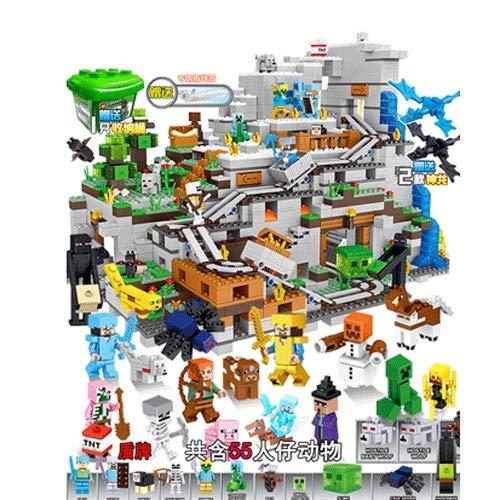 Manson Minecraft Bloque de construcción Cueva Conjunto Completo de Juguetes 55 personalidades Personaje de acción Carácter Modelo Conjunto Minecraft Miniatura Juguetes for niños Manual Asamblea