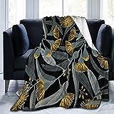 Manta de eucalipto amarillo suave y cómoda, manta de microfibra ultrasuave, para cama o sofá, mantas para todas las estaciones de 50 x 40 pulgadas