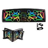 Locisne Portátil 14-en-1 Ultra Push Up Board Bracket Board Multifuncional Brazo Sistema de entrenamiento muscular abdominal con soporte Equipo de entrenamiento de fitness Interior al aire libre
