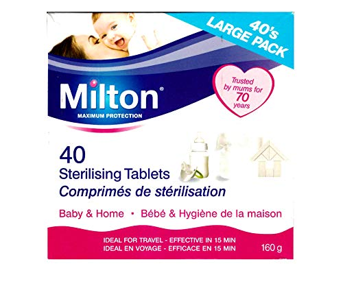 Milton Sterilising Tablets 40Pk Large Pack 160g