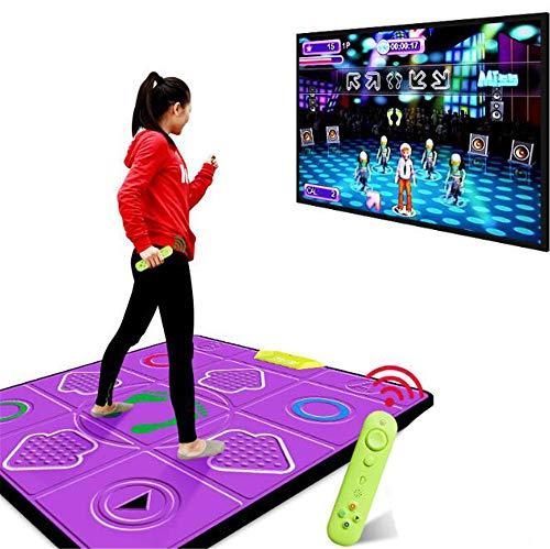 BCLGCF Tanzmatte Tanzmatte rutschfeste Tanzdecke Einzelmassage Tanzdecke Schalldichte Spielmatte, TV-Computer Somatosensorische Tanzmatten Für Erwachsene Und Kinder Mit Doppeltem Verwendungszweck