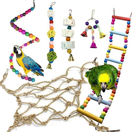 Juguetes para Pájaros, PietyPet 6 Piezas...
