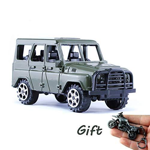 BBYaki Modèle de Jeep en Métal de PUBG, Le Pneu Voiture Transporteur D'alliage Modèle D'arme Jeu D'arme Survie Jedi Peut Être Tourné