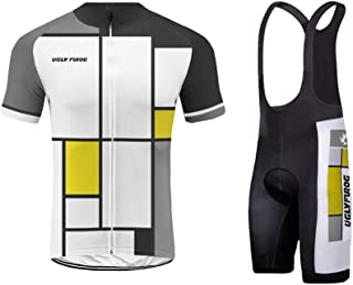Pro Team Summer Men's Cycling Jersey Set Bib Shorts with 3D Padded Cycling Kits XSNX02S