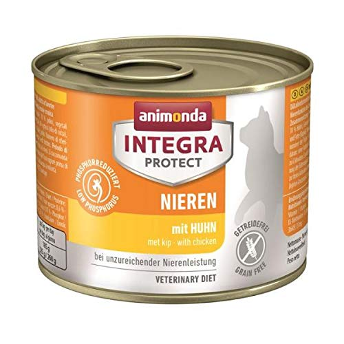 Integra Animonda Protect Niere Huhn 24 x 200g Nassfutter für Katzen
