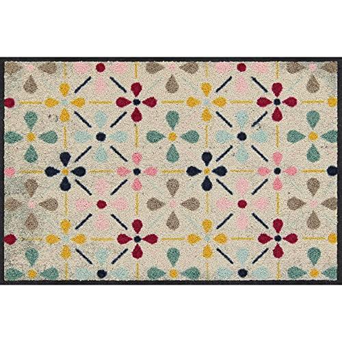 Salonloewe Riki Fußmatte waschbar 050 x 075 cm Fußabtreter, Schmutzfangmatte